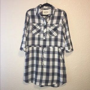 177-Plaid flannel mini dress